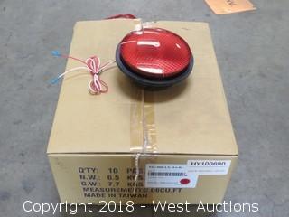 (10) Leotek Red Commercial LED Traffic Light Bulbs