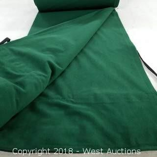 (8) Cypress green Encore Flat Drape 16' H 5' W