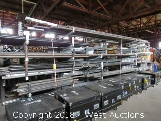 Lot of Pipe Holding Rack (rack only)
