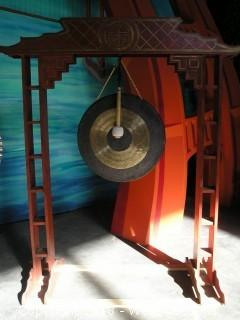 (1) Chinese Gong Frame with Gong and Mallet