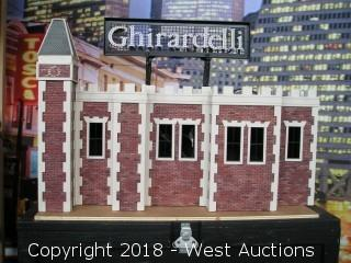 Tabletop Ghirardelli Square Model with Lighted Signage and Roadcase