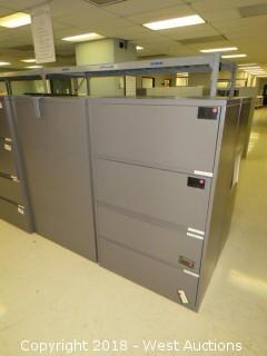 (4) 4-drawer File Cabinets