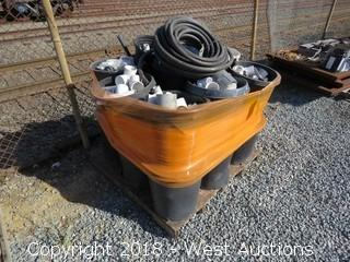 Bulk Lot; Pallet of Assorted PVC Pipe and Sprinkler Fittings