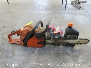 Husqvarna 136 Chain Saw With 2 Stroke Engine Oil