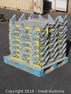 "(42) Galvanized Steel Treaded Scaffolding Stair Steps 12"" X 38"""