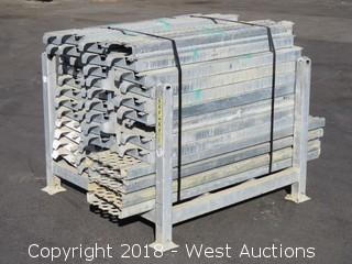 "Bulk Lot; (55+) 9"" and 13"" Wide Galvanized Steel Walkways with Rack"