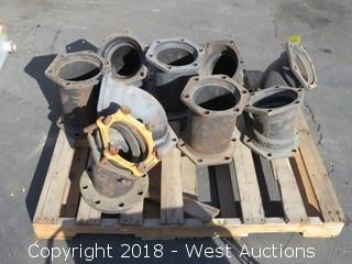 "(9) 8"" Cast Iron Pipe Fittings/Elbows"