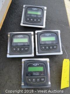 (4) +GF+ Signet Flow Transmitters