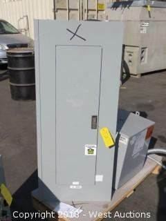 Eaton PowerStock Panelboard Enclosure With Breakers