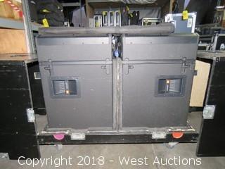 (2) JBL VRX918SP Subwoofers in Road Case