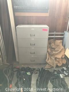 "4-Drawer Metal Storage Cabinet — 48"" HIGH x 36"" WIDE x 19"" DEEP"