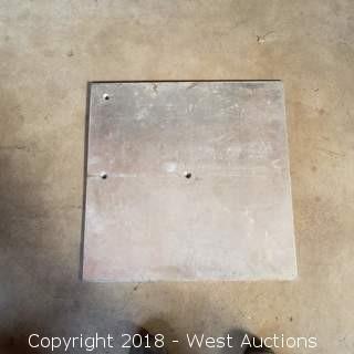 """24""""x24""""x1/8"""" Steel Drapery Plate"""