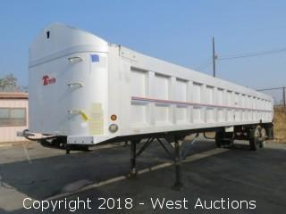 1994 Travis T-102 38.6' Aluminum End Dump Trailer