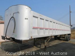 1992 CMC T-102 39' Aluminum End Dump Trailer