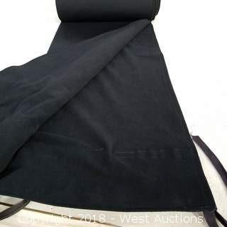 (15) Black Encore Flat Drape 16' H 5' W