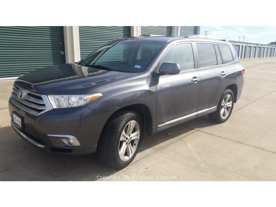 Online Bankruptcy Auction of 2011 Toyota Highlander