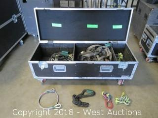 Rigging Box: (52) Piece Rigging Box With Span Sets, Shackels, And Cable