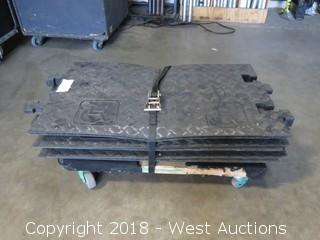(6) Cross Guard ADA Compliant Mat Ramps With Furniture Dolly