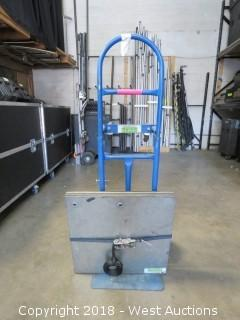 """(8) 24"""" Drape Plates Base With Hand Truck"""
