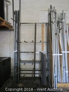4' Wide x 8' Tall Material Rack With (6) Steel Pipes
