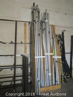 (35) Telescoping Drape Poles And Drape Spans