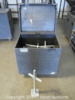 (24) 2' Heavy Duty Aluminum Screw Jacks With Portable Road Case