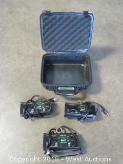 (3) Elation Uni Bar Dimmer Packs With Pelican Case