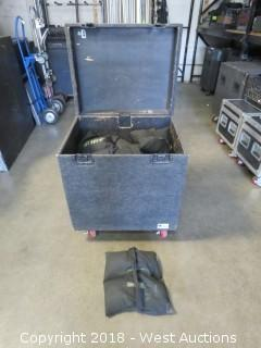 (18) Sand Bags With Portable Road Case