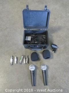 (2) Shure SM58 Microphone Kits With Pelican Case