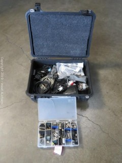 Pelican Case Full Of Assorted Mic/Cable Hardware And Wires