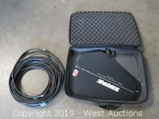(2) Shure PA805SWB Unidirectional Wideband Antenna With Cables And Case