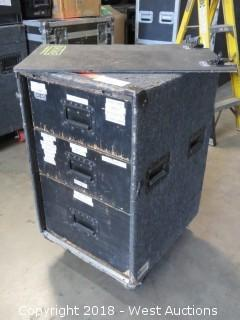 Work Box; Portable Road Case with Tools, Tape, Other Audio Related Materials
