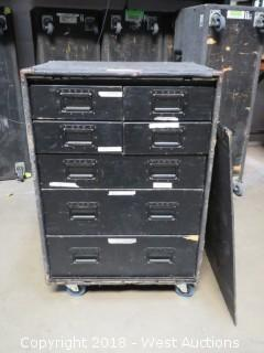 Road Case Work Box; Tools, Rigging, Bulbs + More