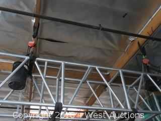 (2) 1/2 Ton Chain Hoists With (2) Rigging Bags And (2) Rigging Slings