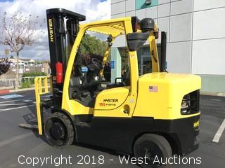 2014 Hyster S155FT 15,500 lb. Capacity Diesel Forklift