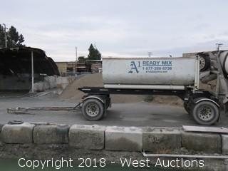 2004 Wesco CRO Transfer Trailer With 15 Yard Bin