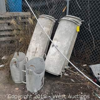 (5) 4' Cement Truck Chutes