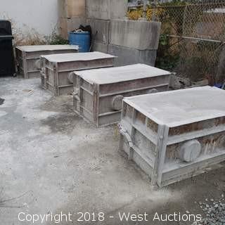 """(4) Cement Barrier Molds 52"""" x 28"""" x 24"""""""