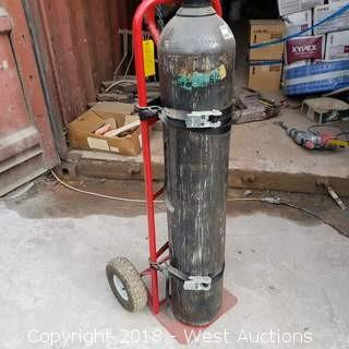 Pneumatic Dolly with Compressed Nitrogen Tank