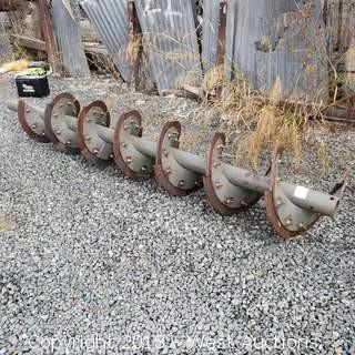 "9-1/2' Rock Auger with 4"" Blades"
