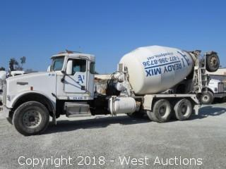 2002 Kenworth W900 Mixer Truck with McNeilus 10.5 Cy Mixer