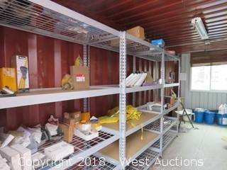 Contents of Sea Container: Shelves, Spare Truck Parts, Oil