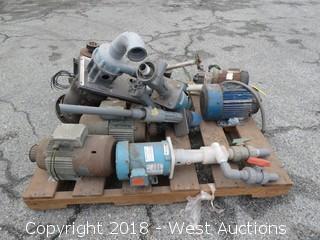 Pallet of Various Pumps/Motors