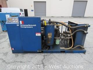 Grimmerschmidt M1805H Skid Mounted Rotary Screw Air Compressor (Not Running)