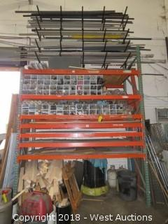 Contents of Pallet Rack; PVC Pipe, Chemcut Rollers and Parts, Rollers and More