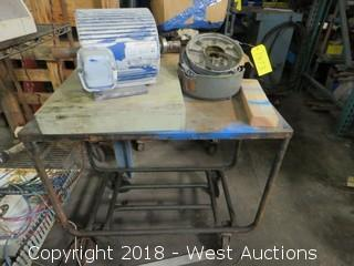 Metal Work Cart and Unimount 125 Electric Motor