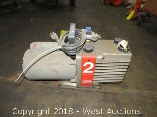 Edwards 2 Stage E2M2 Vacuum Pump Powered by GE Model 5KC37NN470X Motor