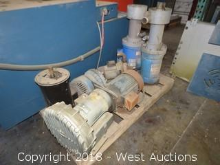 (6) Assorted Electric Motors — (2) with Blowers and (2) with Pumps