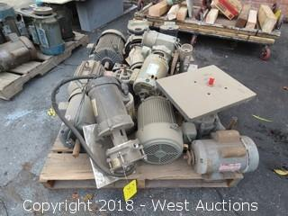 Approx. (9) Assorted Electric Motors and (4) Pumps