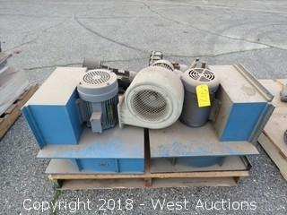 (5) Assorted Size/Style Blowers and (2) 5-H.P. Electric Motors